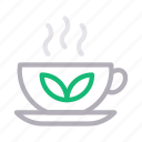 diet, green, healthy, hot, tea icon
