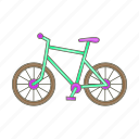 bicycle, cartoon, cycle, sign, sport, travel, wheel icon