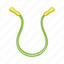cartoon, fitness, jump, rope, sign, skip, skipping icon