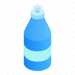 activity, beverage, biking, bottle, container, flask, isometric icon