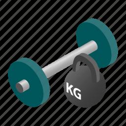 bar, gym, iron, isometric, kettlebell, rod, weight icon