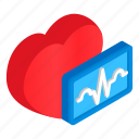 blood, cardiology, disease, heart, isometric, laboratory, schedule icon
