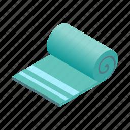 bath, beach, isometric, rectangular, square, textile, towel icon