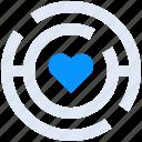 heart, labirynth, love