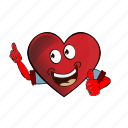 cartoon, emoji, face, heart, smiley icon