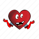 emoji, heart, smiley, cartoon, face