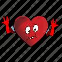 cartoon, emoji, face, heart, smiley icon