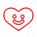 heart, love, smile icon