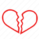 break, heart, love icon