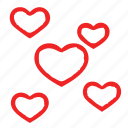 group, heart, love, many icon