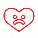 heart, love, sad icon