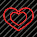 heart, inside, love icon