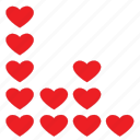beat, dance, heart, love, music, wave icon