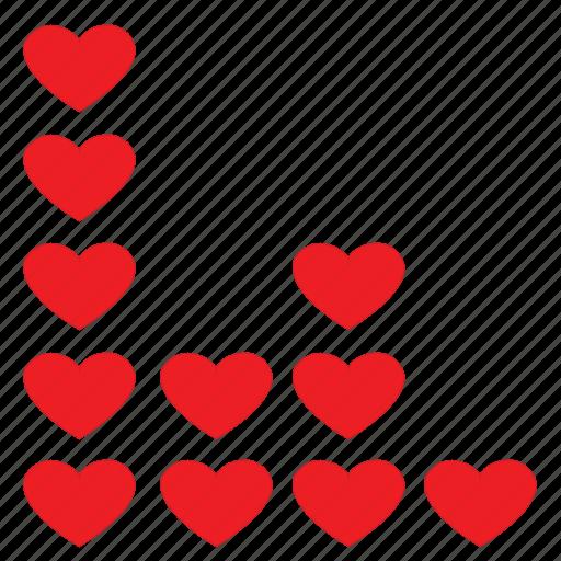 beat, dance, heart, love, music, wave icon