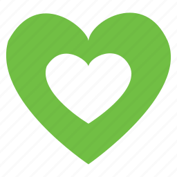 green, happy, heart, love, protect, puncture icon