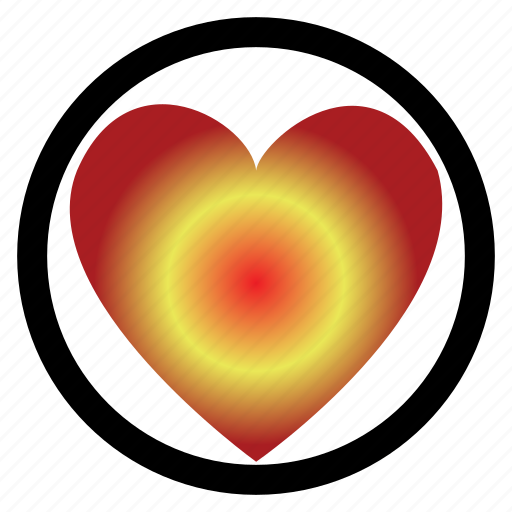 circle, dark love, heart, ligh, love, signboard icon