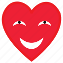 health, heart, lie, love, shy, smile icon