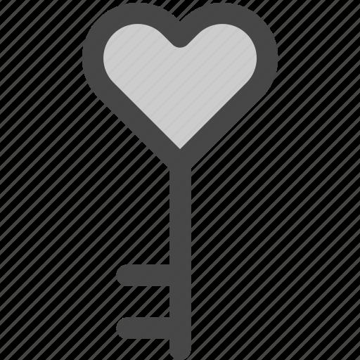 access, heart, key, lock, love, passion, valentine icon