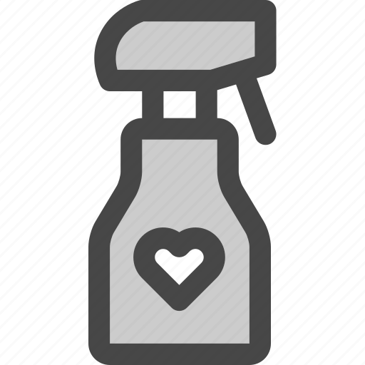 bottle, favorite, heart, love, passion, sanitizer, spray icon