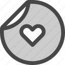 brand, favorite, heart, love, passion, sticker icon
