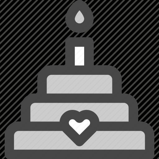 cake, dessert, favorite, heart, love, passion, wedding icon