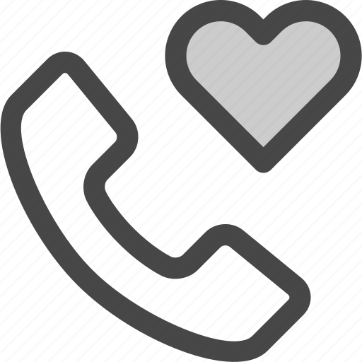 call, confession, contact, conversation, heart, love, phone icon