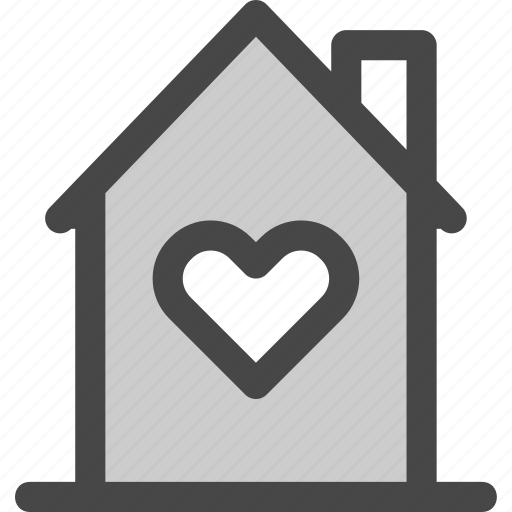 favorite, heart, home, house, love, passion, residence icon