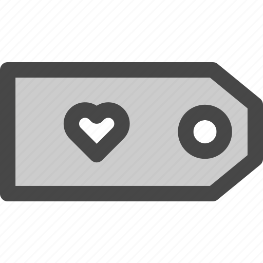 favorite, heart, love, price, retail, shop, tag icon