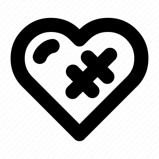 broken, dating, heart, love, romance, valentines icon