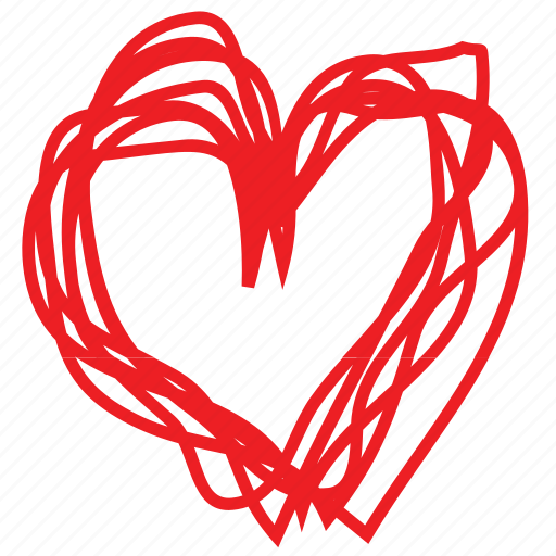 abstract, day, drawing, heart, love, romance, valentines icon