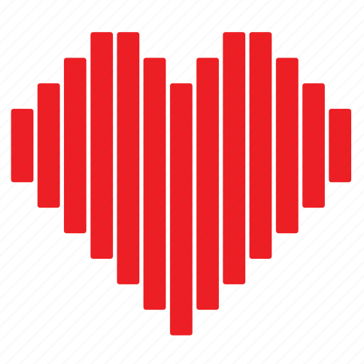 abstract, day, heart, love, romance, striped, valentines icon