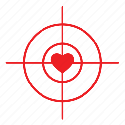 abstract, day, heart, love, rifle view, romance, valentines icon