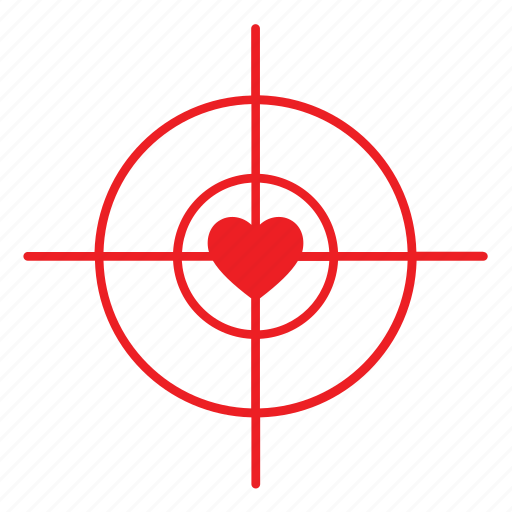 Abstract, day, heart, love, rifle view, romance, valentines icon - Download on Iconfinder