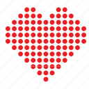 abstract, day, heart, love, point, romance, valentines icon