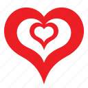 abstract, day, heart, love, romance, valentines icon