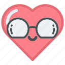 eye, face, glasses, heart, hearts, love, sunglasses icon