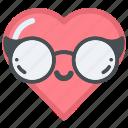 eye, face, glasses, heart, hearts, love, sunglasses icon