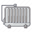 battery, cartoon, electric, heater, heating, logo, object icon