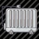 battery, cartoon, electric, heater, heating, logo, object