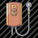 boiler, cartoon, heater, heating, logo, object, radiator