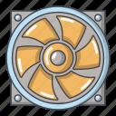 cartoon, fan, heater, heating, logo, object, thermal