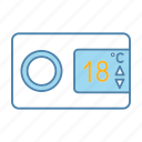 air conditioning, climate control, conditioner, digital, remote control, temperature, thermostat icon