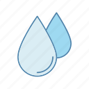 drop, droplet, liquid, rain, raindrop, water, water drop icon