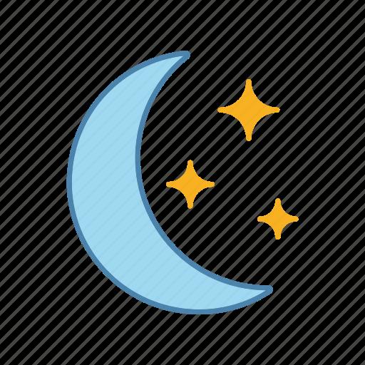 bedtime, moon, moonlight, night, nighttime, sky, star icon