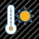 heat, hot, summer, sun, sunny, temperature, thermometer icon