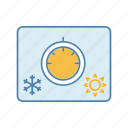 climate control, cold, controller, electronic, hot, knob, temperature icon