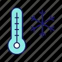 cold, outside, season, snowflake, temperature, thermometer, winter icon