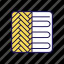 floor, floor heating, heater, heating system, laminate, pipe, underfloor icon