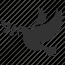 belief, bird, dove, happy, peace, pigeon, serenity icon