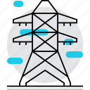 carcas, construction, electricity, energy, lines, power, tower icon